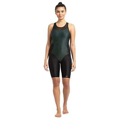 Speedo Mesh Panel Legsuit One-Piece For Women (Siz...