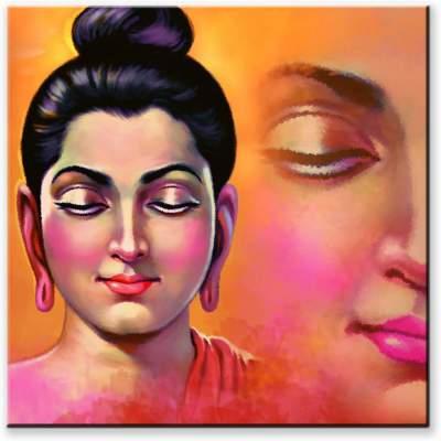 Pintura Spiritual Buddha Designer Canvas Painting ...