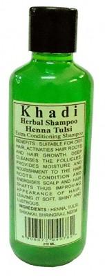 Khadi Natural Herbal Henna & Tulsi Shampoo 210ml...