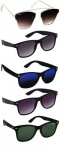 Silver Kartz Best Selling Gift Pack of UV 400 Protection Unisex Sunglasses Pack of 5...