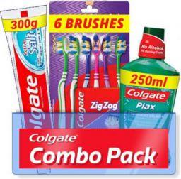 Colgate Active Salt Combo 6 Brushes, Mouthwash, Toothpaste