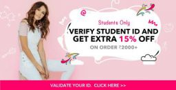 Extra 15% off for students
