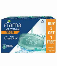Fiama Di Wills Men Energizing Sport Gel Bar, 125g (Buy 3 Get 1 Free)