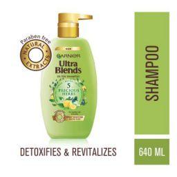 Garnier Ultra Blends Shampoo, 5 Precious Herbs, 640ml