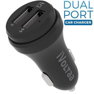 iVoltaa 3.1A Dual Port Car Charger - Black