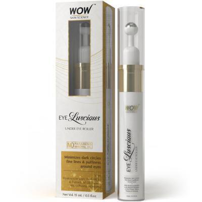 WOW Eye Luscious No Parabens & Mineral Oil Under Eye Roller, 15mL