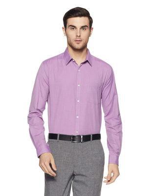 Next Look Men's Solid Slim Fit Formal Shirt