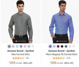 Men's Formal Shirts minimum 80% Off