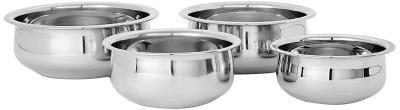 Amazon Brand - Solimo Stainless Steel Handi Set (4 pieces)