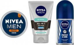 Nivea MEN Dark Spot Reduction Crme (150ml), All In One Face Wash (100ml), Prodtect & Care Roll On (50ml)  (Set of 3)