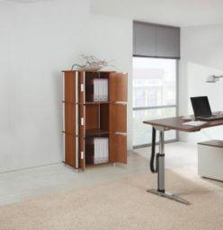 HomeTown Jacob Engineered Wood Free Standing Cabinet  (Finish Color - OAK, Door Type- Framed Sliding)