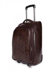 Bags.R.us Unisex Brown Textured Cabin Trolley Bag