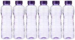 Princeware Victoria PET Fridge Bottle, 975 ml, Set of 6, Violet