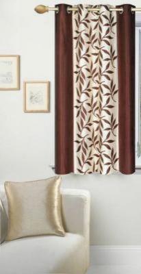Panipat Textile Hub 150 cm (5 ft) Polyester Window Curtain Single Curtain