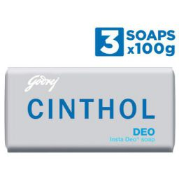 Cinthol Deo Soap, 100g - Pack of 3