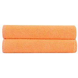 Bathla Spic & Span Multi Purpose Micro Fiber Cleaning Cloth - 300 GSM: 30cmx30cm (Pack of 2 - Fluorescent Orange)