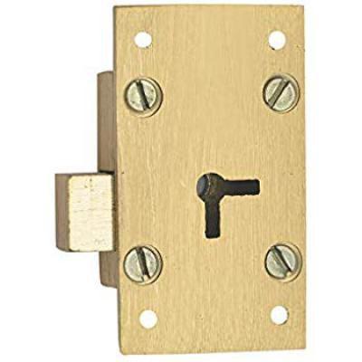 Harrison H-0093 50mm Brass Four Lever Furniture Lock Set (Silver)