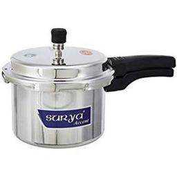 Surya Accent 1B Aluminium Pressure Cooker, 3 litres, Silver