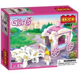 Toyshine Princess Carriage Building Blocks, ABS Plastic Construction Toys (3267)
