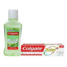 Colgate (Toothpaste - 20gm & Mouthwash - 60ml) Oral Care Kit - 80gm