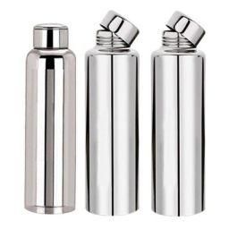 Kuber Industries™ Stainless Steel Fridge Water Bottle,Thunder (1000 ML)-Set of 3 (Code-BT19)