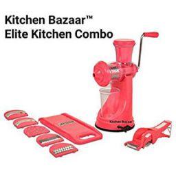 Kitchen Bazaar Elite Plastic Manual Citrus Juicer Set, Set of 3