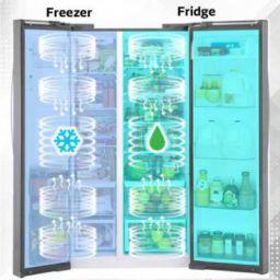 Midea 584 L Frost Free Side by Side Refrigerator  (Silver, MRFS5920SSLF)