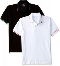 Chromozome Men's Regular Fit Polo T-Shirt (Pack of 2)