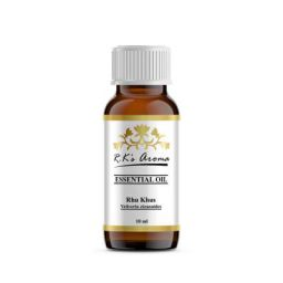 Rks Aroma Rhu Khus Essential Oil 100% Pure and Natural, 10 ml