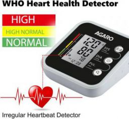 Agaro Automatic Digital Blood Pressure Monitor (Includes Carry Bag & Batteries)/ bp-501 Bp Monitor  (White, Black)