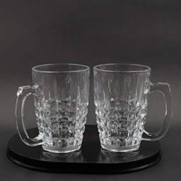 Soogo Seatle Glass Beer Mug Set, 380 ml, 2-Pieces, Transparent