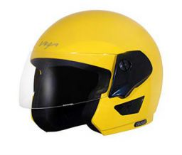Vega Cruiser Open Face Helmet (Yellow, Medium)