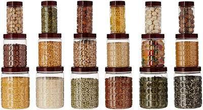 Amazon Brand - Solimo Checkered Airtight Jar Set of 18