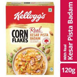 Kellogg's Cornflakes Real Kesar Pista Badaam Pouch, 120 g