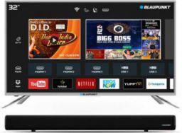 Blaupunkt 80cm (32 inch) HD Ready LED Smart TV with External Soundbar  (BLA32AS460)