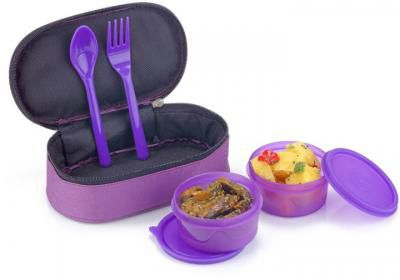 Flipkart SmartBuy Aqua Purple 2 Containers Lunch Box