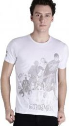 (Size X)Justice League Printed Men Round or Crew White T-Shirt