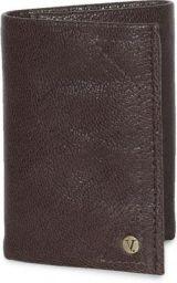 V Dot Men Brown Genuine Leather Wallet BROWN