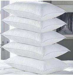 eGizmo Solid Bed/Sleeping Pillow Pack of 5