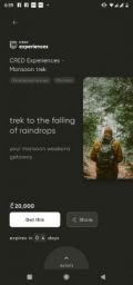 CRED Experiences - Monsoon trek with 20,000 Coins