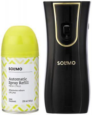 Amazon Brand - Solimo Automatic Air Freshener Kit - 250 ml (Fresh Citrus)