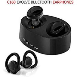 Chevron C160 Evolve Bluetooth Earphones with Mic (Black)