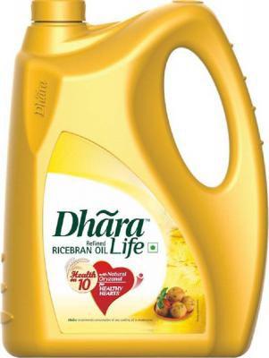 Dhara Life Refined Ricebran Oil Jar, 5L
