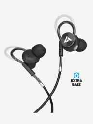 Boult Audio BassBuds Loop in-Ear Wired Earphones with Mic and Deep Bass with Noise Cancellation (Black)