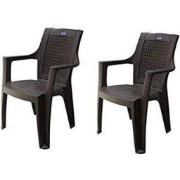 NIKAMAL MID Back Plastic Chair Brown (2)