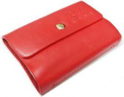 Billionbag Pack Of 1| 24 Bits RED Card Holder Leather Business Card Holder Credit Card Holder Case Card Holder 24 Card H