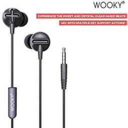 Wooky Beatz Basic in-Ear Earphone with Mic (Black)