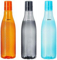 Amazon Brand – Solimo Plastic Fridge Bottle Set of 3