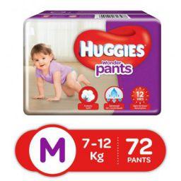 Huggies Wonder Pants Diapers, Medium (Pack of 72)