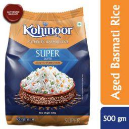 Kohinoor Super Silver Aged Basmati Rice, 500 GMS